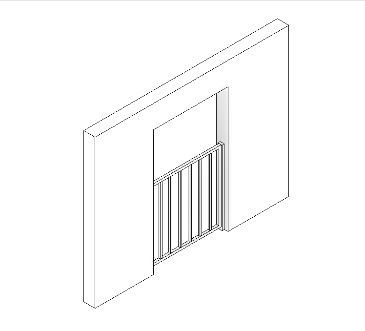 图片[1]-revit族,栅栏门。