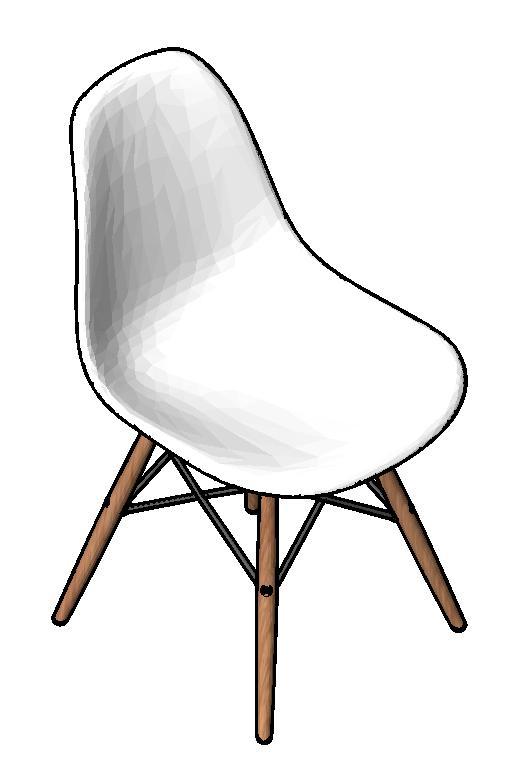 图片[4]-revit家具族,贝壳椅