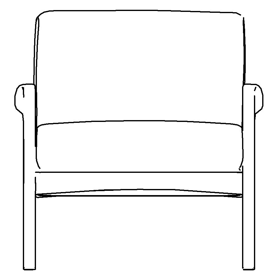 图片[4]-revit家具族,北欧单人沙发椅