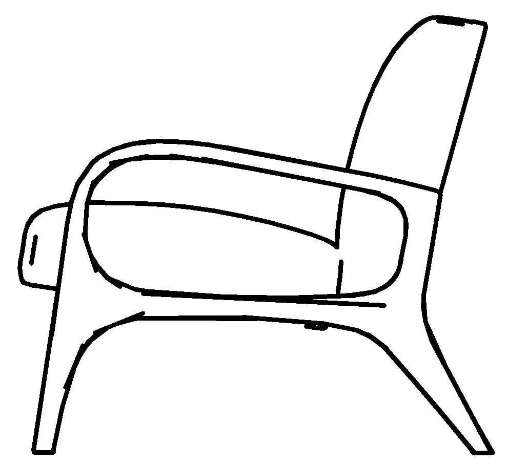 图片[5]-revit家具族,北欧单人沙发椅